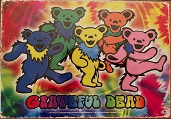 Grateful Dead - DANCING BEARS TIN SIGN