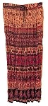 Hippie Skirt #7 - Long India Print Crinkle Broomstick Skirt (light tan, purple, red and black) …