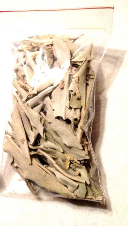 SACRED WHITE SAGE - 1/2 oz BAG OF LOOSE SAGE WITH INSTRUCTIONS